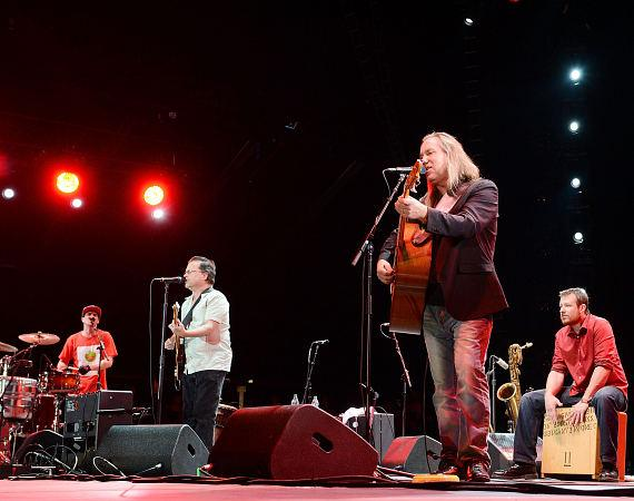 The Violent Femmes perform at the Ninth Annual Wine Amplified Festival at the MGM Resorts Village on October 11, 2014