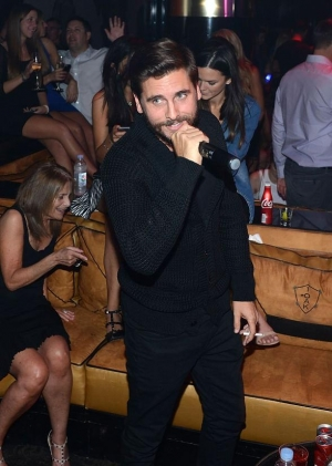 Scott Disick Hosts at 1 OAK Nightclub at The Mirage Hotel and Casino