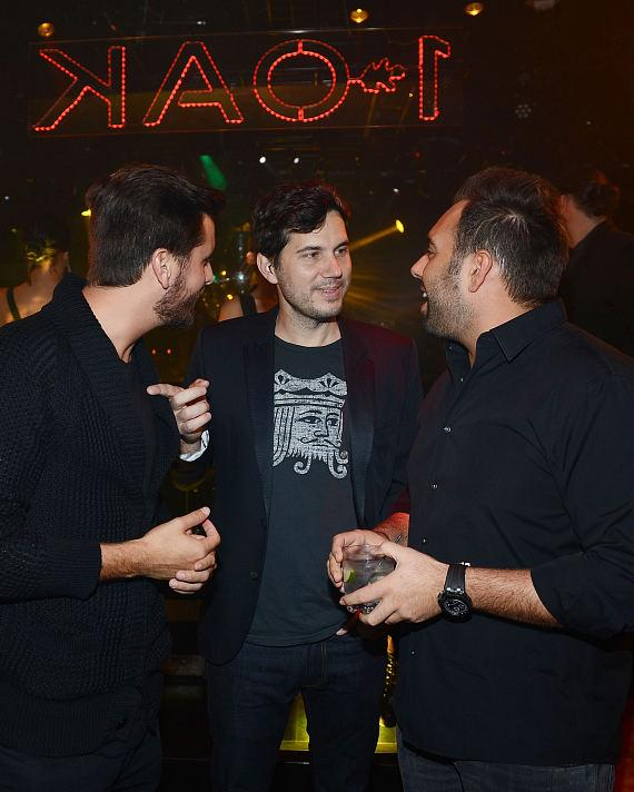 Scott Disick, Scott Sartiano and Eli Pacino attend 1 OAK nightclub at the Mirage Hotel and Casino Resort