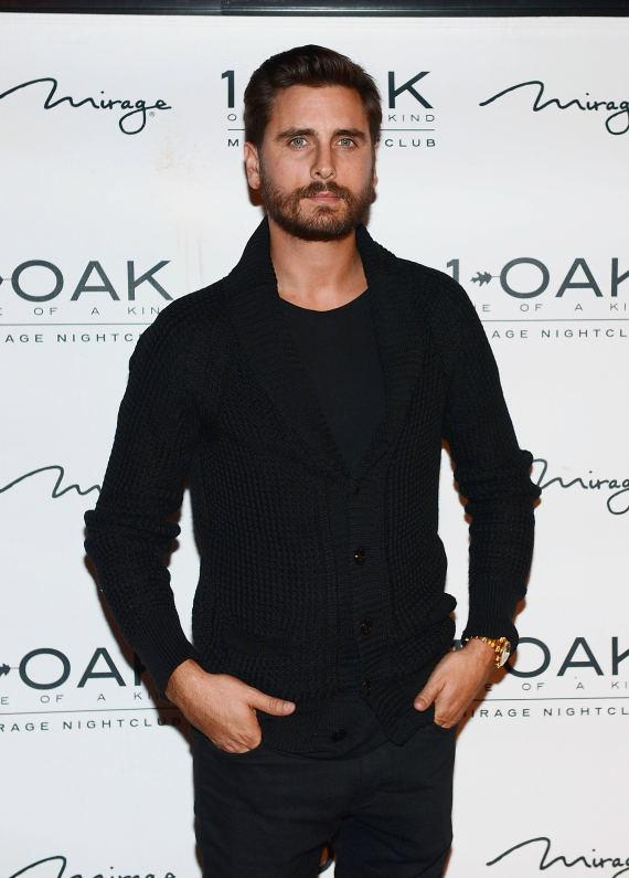 Scott Disick arrives at 1 OAK Nightclub at the Mirage Hotel and Casino in Las Vegas