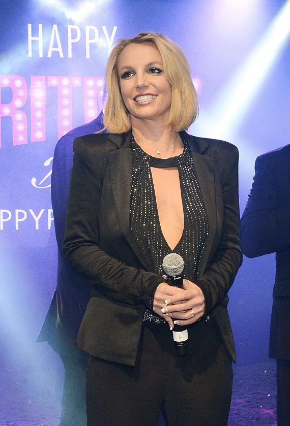 "Planet Hollywood Resort & Casino headliner Britney Spears celebrates ""Britney Day"" at The LINQ Promenade in Las Vegas on Wednesday, November 5."