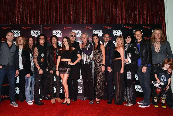 Scott Kinworthy, Andrew Freeman, Michael T. Ross, Robin McAuley, Christine Richards, Jay Schellen, Hugh McDonald, Howard Leese, Carol-Lyn Liddle, Sir Harry Cowell, Sarah Jessica Rhodes, Paul Shortino Ryan Mueller, Ryder Aldrich and Doug Aldrich arrive at 'Raiding The Rock Vault'
