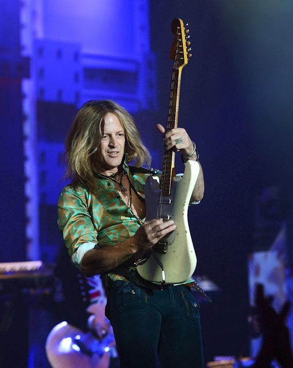 Guitarist Doug Aldrich performs in 'Raiding The Rock Vault' at it's new venue, The Tropicana Las Vegas