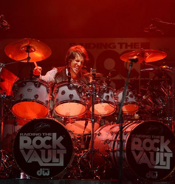 Drummer Jay Schellen performs in 'Raiding The Rock Vault' at it's new venue, The Tropicana Las Vegas