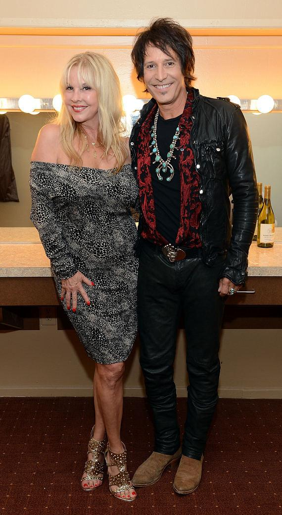 Barbara Schellen and Jay Schellen backstage at 'Raiding The Rock Vault'