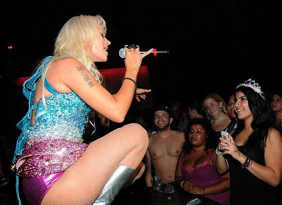 Former Pussycat Doll Kaya Jones performs at Krave Nightclub