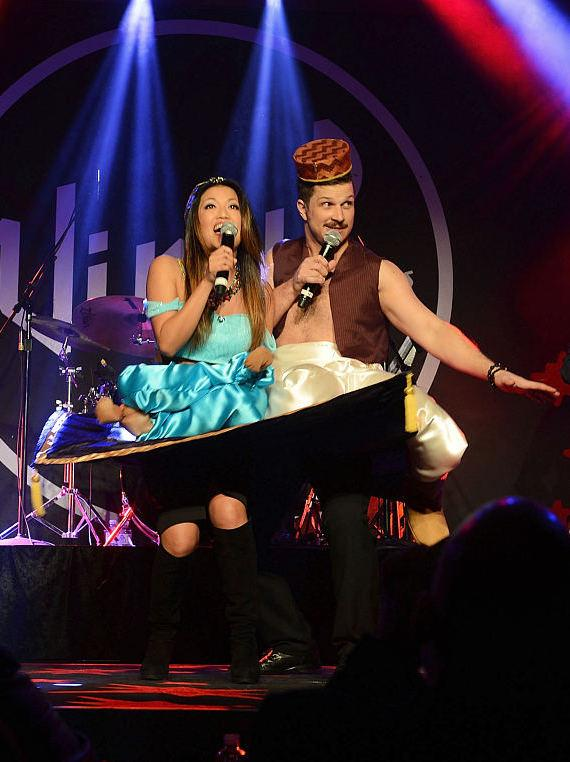 Cheryl Daro and Mark Shunock perform at Monday's Dark benefiting The Center at Vinyl and Hard Rock Hotel and Casino on January 26, 2015 in Las Vegas