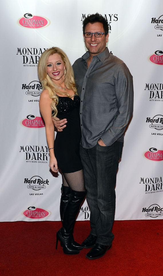 Nina Digregorio and Mike Licata arrive at Monday's Dark benefiting The Center at Vinyl and Hard Rock Hotel and Casino