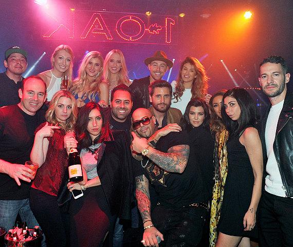 Scott Disick, Kourtney and friends at 1OAK in The Mirage Las Vegas