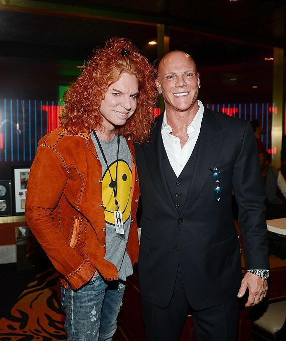 Carrot Top and Johnny Brenden during produce/DJ Steve Aoki's Brenden 'Celebrity' Star presentation at Palms Casino Resort