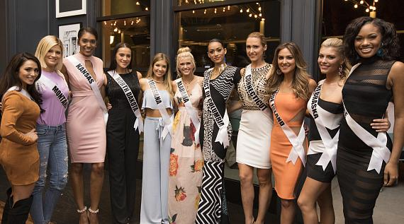 2017 Miss USA Contestants visit Shark Reef and Libertine Social at Mandalay Bay