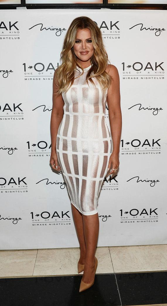 Khloe Kardashian arrives at 1 OAK Nightclub at The Mirage in Las Vegas