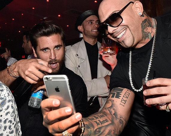 Television personality Scott Disick (L) and rapper Mally Mall appear at 1 OAK Nightclub at The Mirage Hotel & Casino