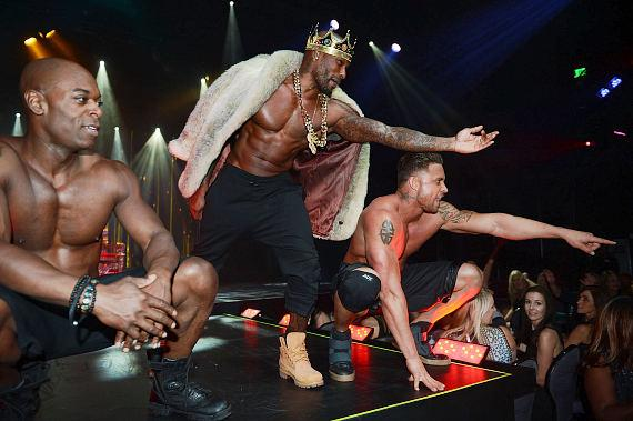 Tyson Beckford performs with Chippendales at the Rio on May 1, 2015 in Las Vegas