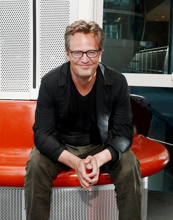 Actor Matthew Perry rides the High Roller at The LINQ