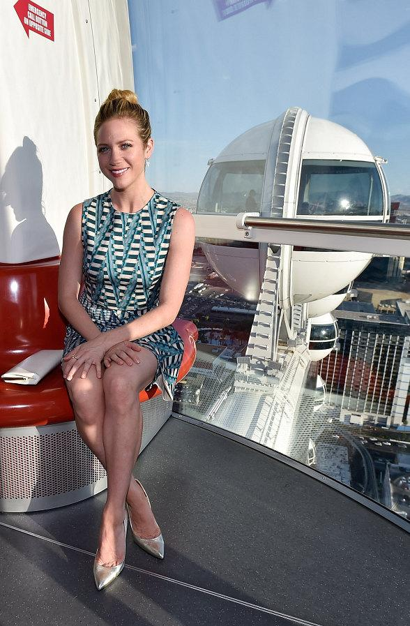 Actress Brittany Snow rides the High Roller at The LINQ Promenade in Las Vegas