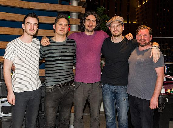 Snow Patrol backstage at the Boulevard Pool at The Cosmopolitan of Las Vegas