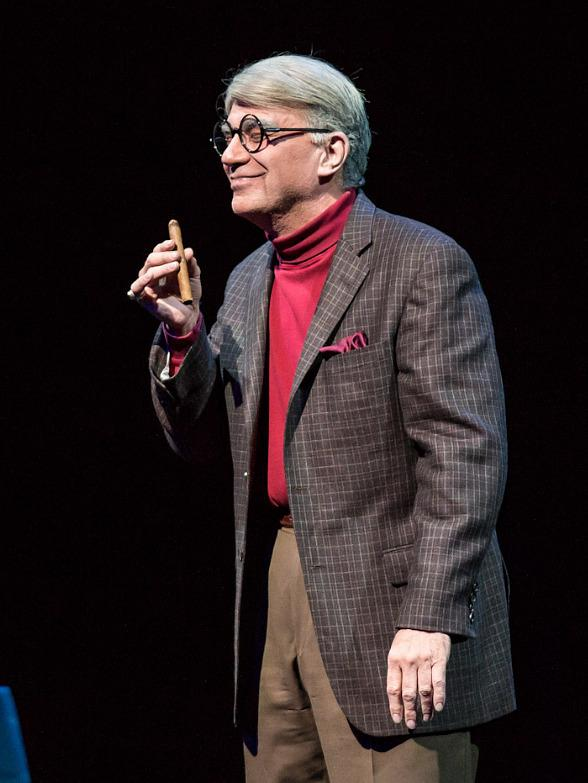 "Alan Safier as George Burns in ""Say Goodnight Gracie"" at The Smith Center for Performing Arts in Las Vegas"
