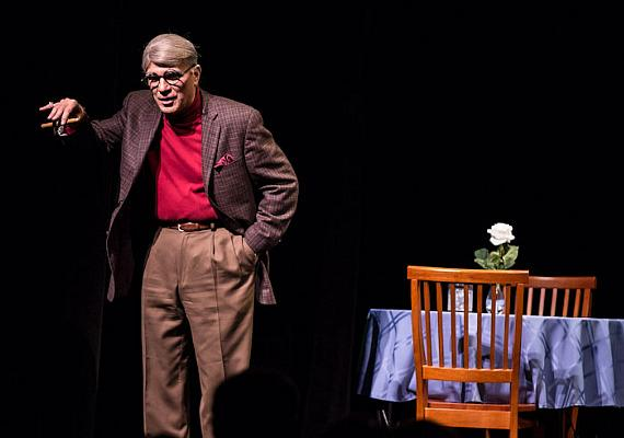"Alan Safier as George Burns in ""Say Goodnight Gracie"" at The Smith Center for Performing Arts"