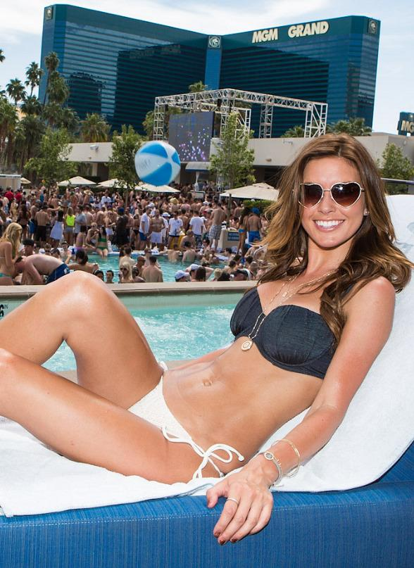 Audrina Patridge Celebrates 27th Birthday at Wet Republic in Las Vegas
