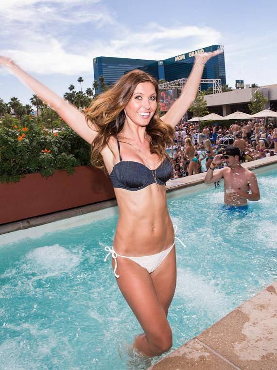 Audrina Patridge in the pool at Wet Republic