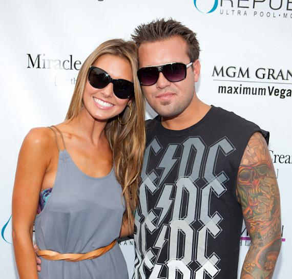 Audrina Patridge and brother Mark at WET REPUBLIC