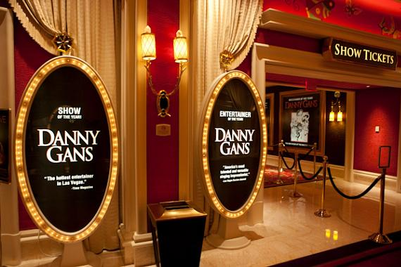 Signs outside the Danny Gans Theater