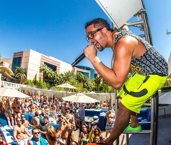 Sky Blu of LMFAO spins at WET REPUBLIC