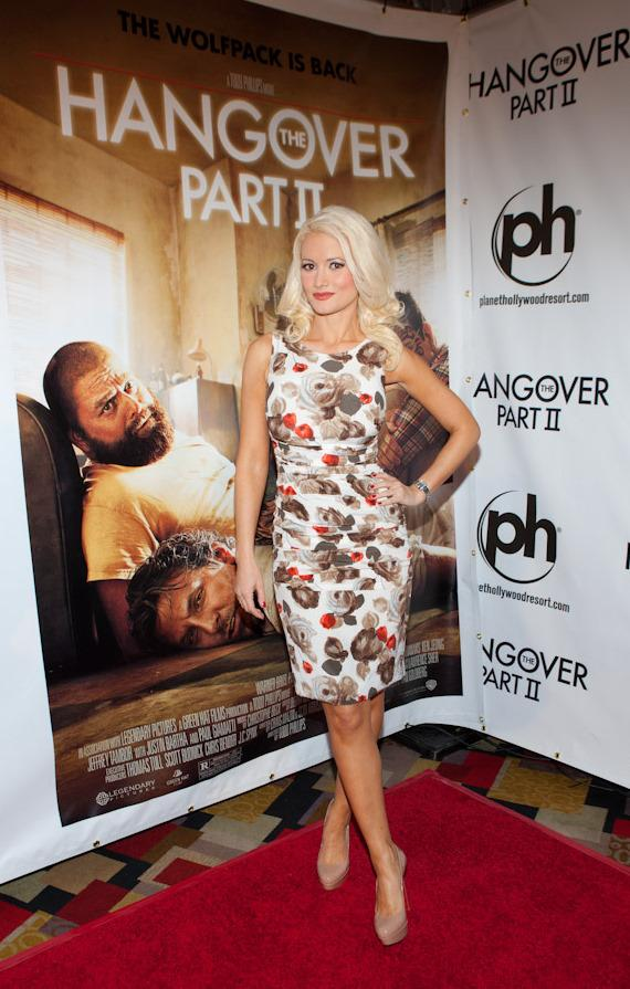 Holly Madison at The Hangover II premiere at Planet Hollywood