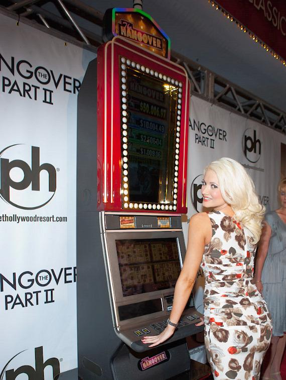 Holly Madison with IGT Hangover Slot Machine