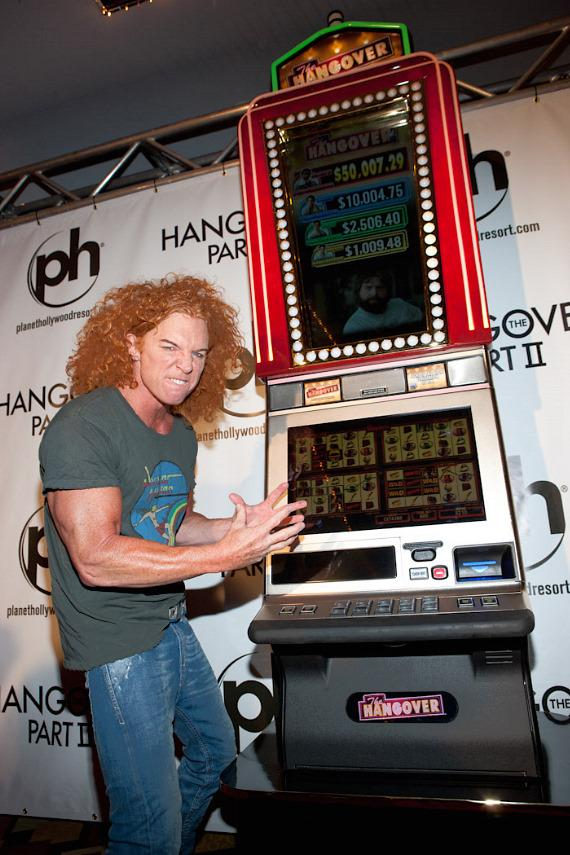 Luxor headliner Carrot Top with IGT Hangover Slot Machine