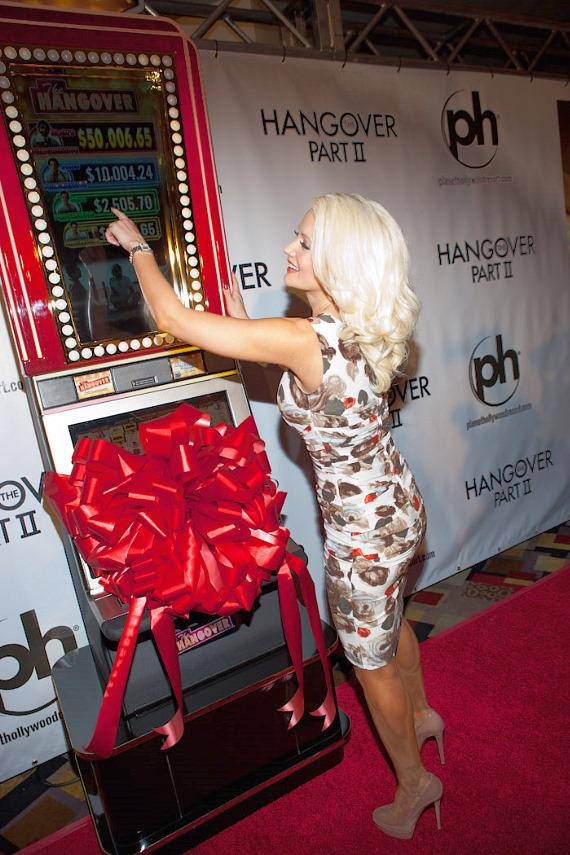 Holly Madison prepares to unveil new IGT Hangover slot machine