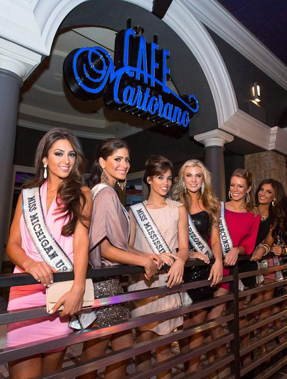 Miss USA Contestants at Martorano