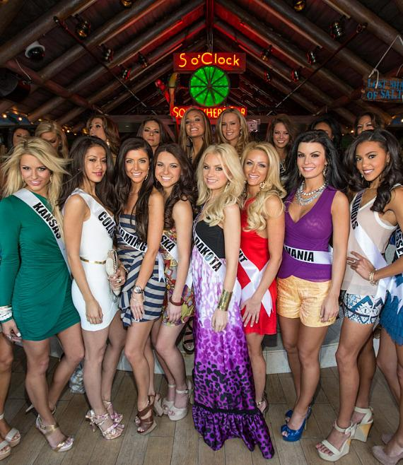 Miss USA contestants at Margaritaville Casino at Flamingo Las Vegas