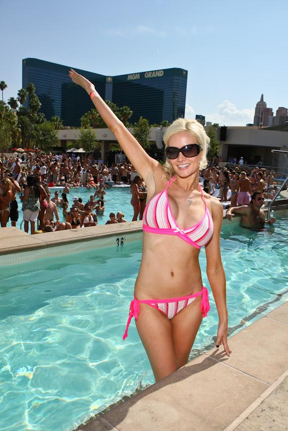 Holly Madison in the pool at WET REPUBLIC