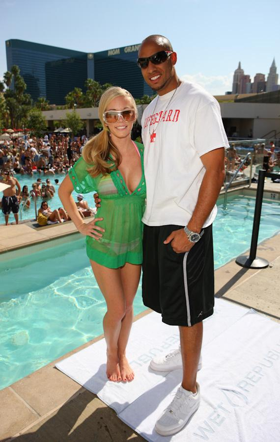 Kendra Wilkinson and fiance Hank Baskett at WET REPUBLIC