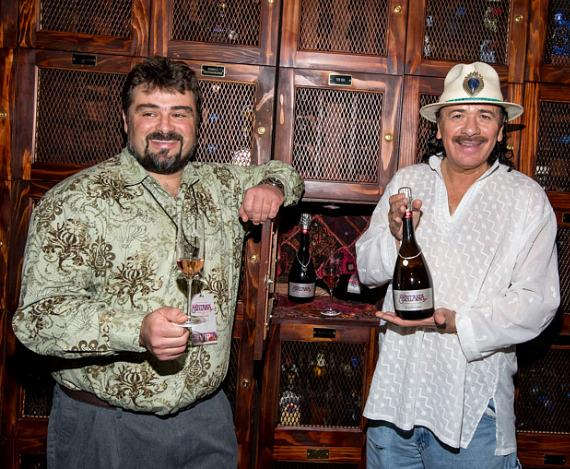 Ludovic Dervin, Winemaker for Mumm Napa with Carlos Santana