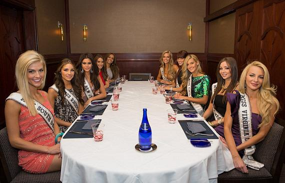 Miss USA contestants enjoy a decadent four course meal