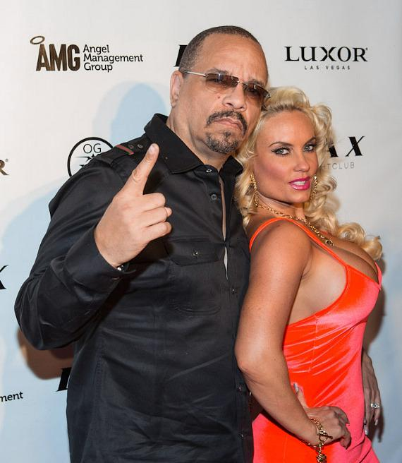 Ice-T and Coco on red carpet at LAX Nightclub at Luxor in Las Vegas