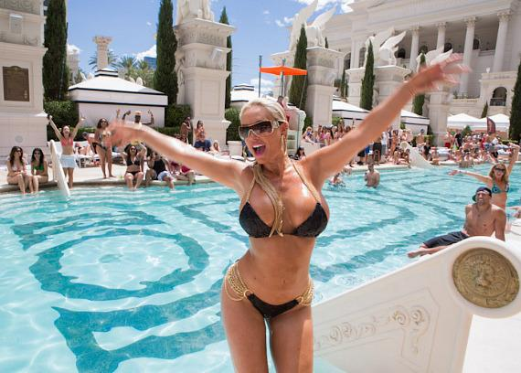 Coco at Venus Pool at Caesars Palace
