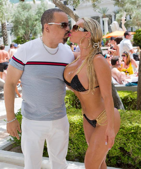 Ice-T &amp; Coco at Venus Pool Club at Caesars Palace in Las Vegas 