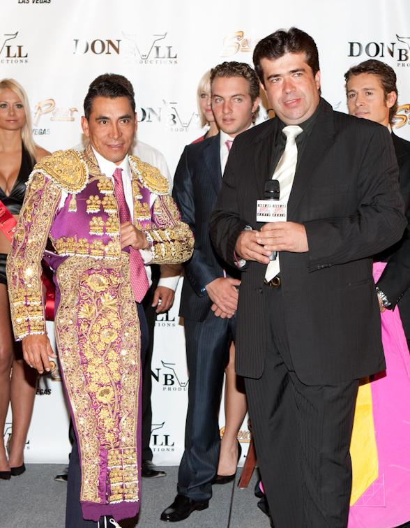 "Bullfighter Eulalio Lopez ""Zotoluco"" President, Don Bull Productions, Pedro Haces Barba"