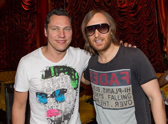 The kings of EDM, Tiesto and David Guetta meet at Encore Beach Club
