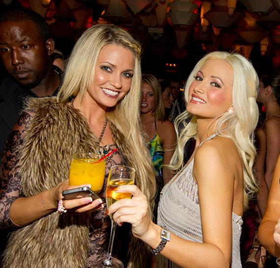 Angel Porrino and Holly Madison at Blush Boutique Nightclub