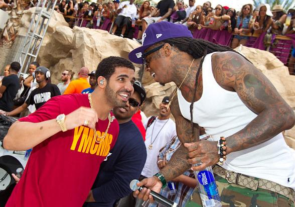 Drake and Lil Wayne at Rehab at Hard Rock Hotel in Las Vegas