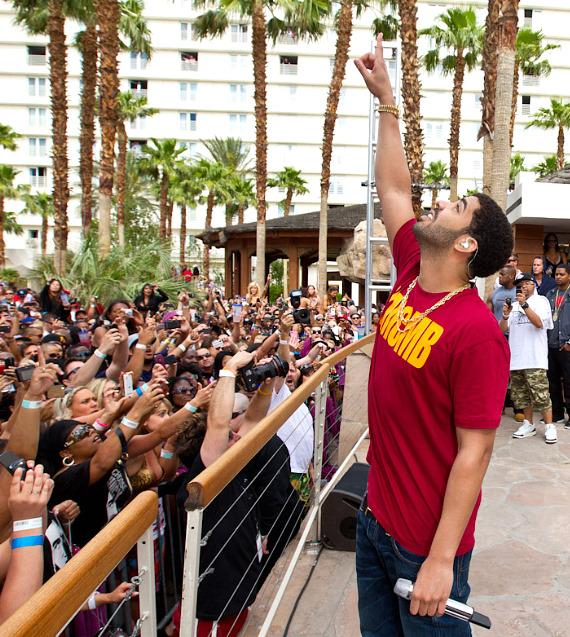 Drake performs at Rehab at Hard Rock Hotel in Las Vegas