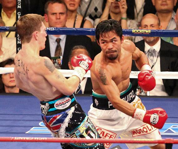 Pacquuiao sets up the punch that will end the fight