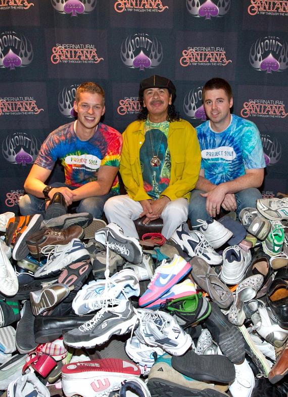 Project Sole co-founder Jaron Wilson, Carlos Santana and Zack Stevens, Project Sole co-founder