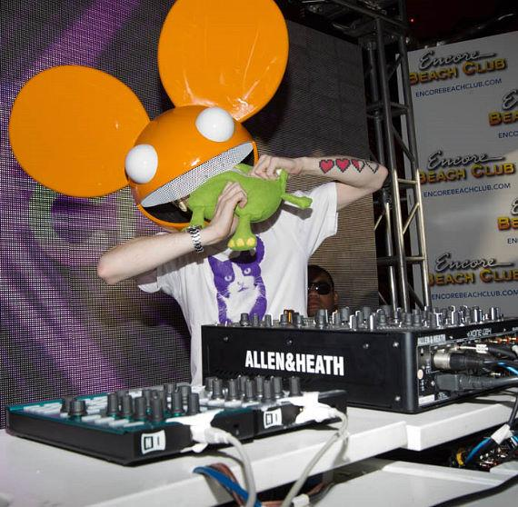 Deadmau5 performs at Encore Beach Club as his popularity exploded during 2011