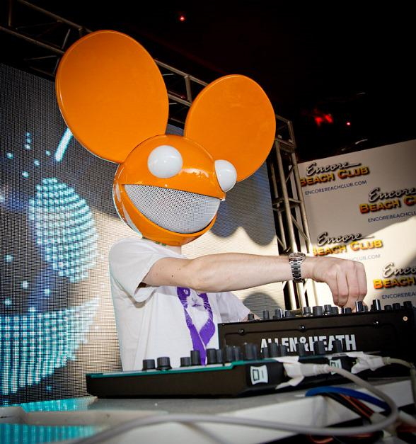 Deadmau5 performs at Encore Beach Club's one year anniversary celebration